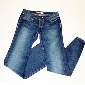 BKE Mya Bootcut Embellished Pocket Denim Jeans